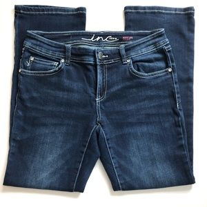 Inc Boot-Cut Jeans w/ Rhinestones & Silver Buttons